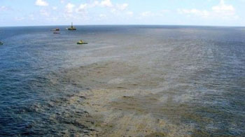 Brazil off shore oil slick, second spill in as many weeks.