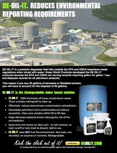DE-OIL-IT reduces environmental reporting issues in plants of all kinds including nuclear facilities.