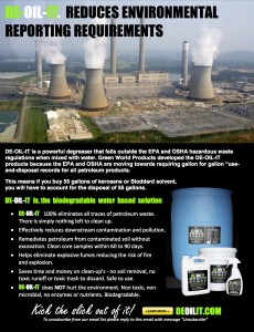 DE-OIL-IT reduces environmental reporting and fines in nuclear plants