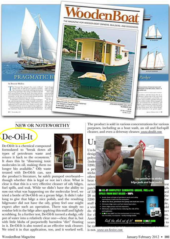 DE-OIL-IT is reviewed in Wooden Boat magazine!