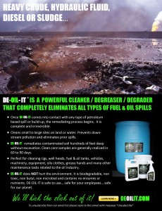 A large oil spill in Trindad was cleaned and remediated using DE-OIL-IT, leaving no traces of chemicals in the environment.