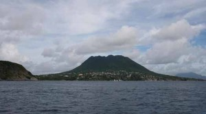 St. Eustatius Looking south toward the Quill from abreast the terminal Credit: Betsy Crowfoot