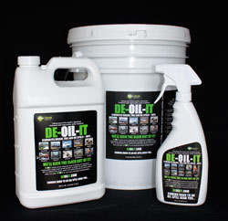 DE-OIL-IT products are made for specific use- boat bilge, driveway stain, or oil spill eliminator- or it can be purchased in a concentrate and diluted for dozens of varied uses.