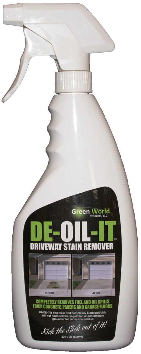 Driveway and garage floor cleaner de oil it for Driveway stain remover