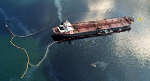 Exxon Valdez Alaska oil spill in 1991. A costly environmental and financial disaster.