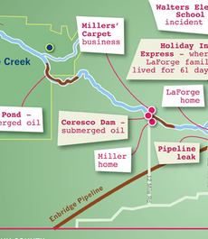 On Sunday, July 25, 2010, Enbridge Line 6B ruptured near Marshall, Mich. and released more than one million gallons of Canadian diluted bitumen into Talmadge Creek and the Kalamazoo River.
