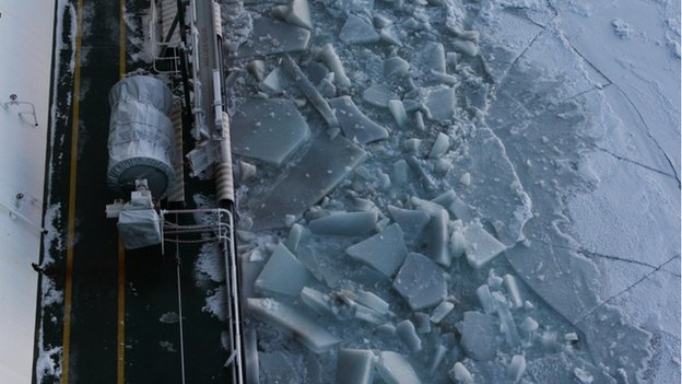 Despite the ice, the Arctic crossing is navigable through November.