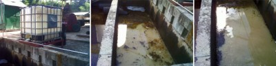Trinidad Tank and Fuel effluent pit time release Remediation System