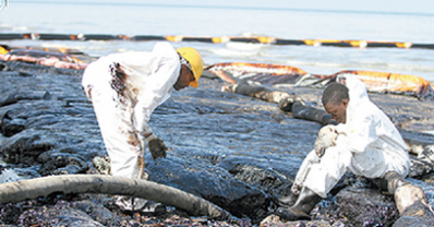 Trinidad oil spill cleanup